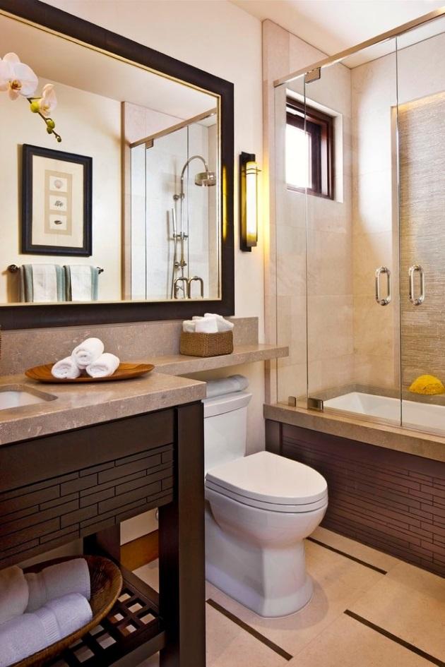 48b9c42d0fa3 Επέκταση του μαρμάρινου πάγκου πάνω από την τουαλέτα για να δημιουργηθεί  ένα ράφι.