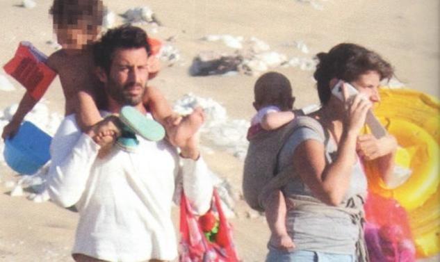 Λευτέρης Ελευθερίου: Στη Νάξο με την οικογένειά του!