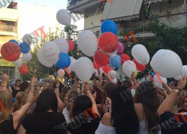 Πλήθος κόσμου για την γιορτή του Παντελή Παντελίδη - Άφησαν μπαλόνια με το όνομά του στον ουρανό [pics, vid]