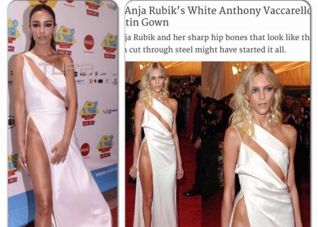 Έξαλλος ο Βασίλειος Κωστέτσος, αποκαλύπτει ότι το φόρεμα της Ελένης Φουρέιρα φόρεσε το 2012 top model!