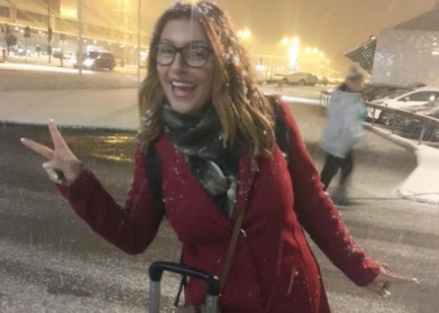 Έλενα Παπαρίζου: Επιστροφή στη χιονισμένη Σουηδία! [pics]