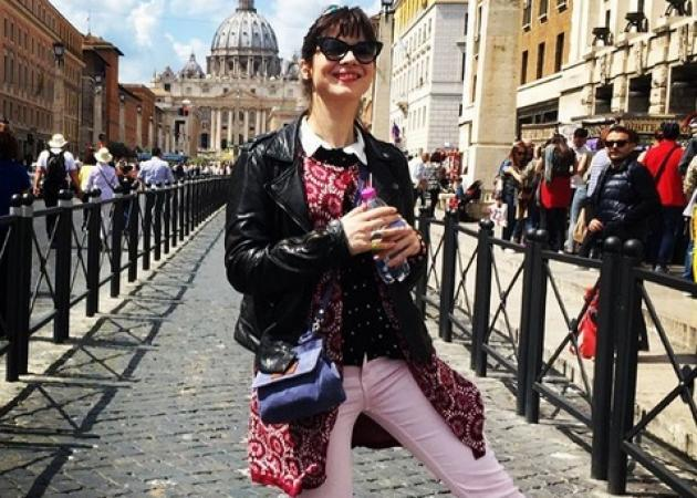 Ευγενία Δημητροπούλου: Όμορφες στιγμές από το ταξίδι της στη Ρώμη!