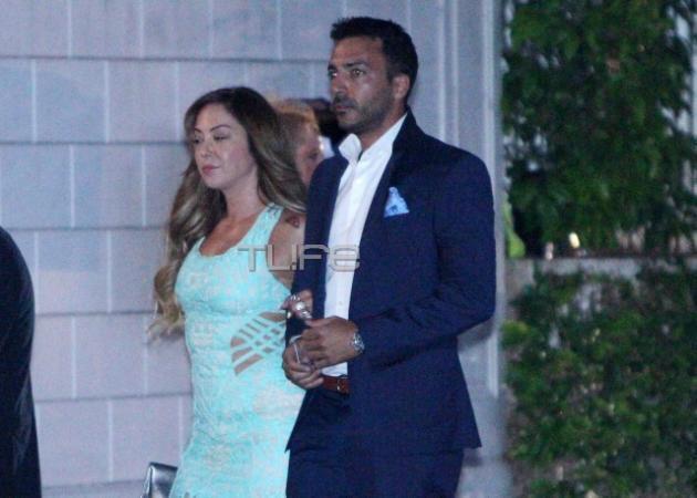Μελίνα Ασλανίδου: Με τον σύντροφό της στο γάμο Ρουβά - Ζυγούλη! [pics]