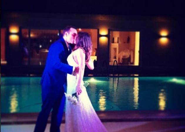 Ελένη Καρποντίνη – Βασίλης Λιάτσος: Το γαμήλιο πάρτυ και ο πρώτος χορός του ζευγαριού! [pics,vids]