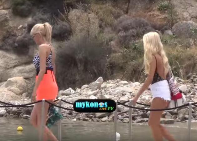Κατερίνα Καινούργιου - Σάσα Σταμάτη: Βόλτα με σκάφος στο νησί των ανέμων! [vid]