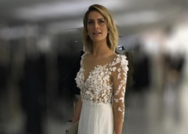 Tατιάνα Μπλάτνικ: Το ονειρεμένο φόρεμα της Σήλιας Κριθαριώτη για την βασιλική δεξίωση! [pics]