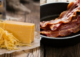 Cheddar loves bacon: Low budget gourmet