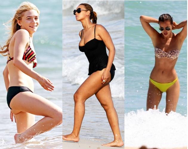 Oh! My ladies...  AT THE BEACH! Tι μαγιό επέλεξαν οι celebrities ... a6e34ff782b
