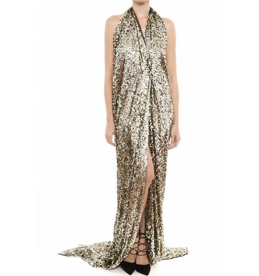 b0c6b3c986c3 πο τα πιο εντυπωσιακά βραδινά φορέματα της σεζόν το χρυσό μάξι φόρεμα που  σχεδίασε ο Nassos Ntotsikas μας έκλεψε την καρδιά απο την πρώτη ματιά.