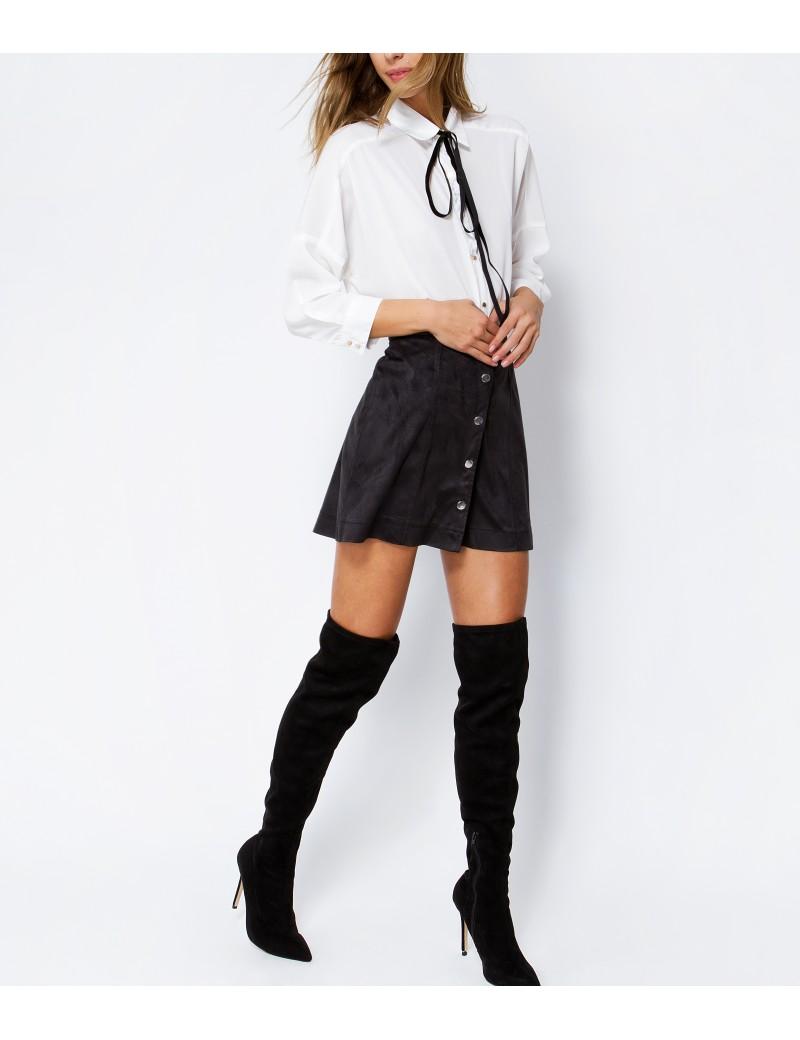64719518606 Μίνι μαύρη φούστα σε γραμμή Α: Φόρεσε την τάση! - TLIFE