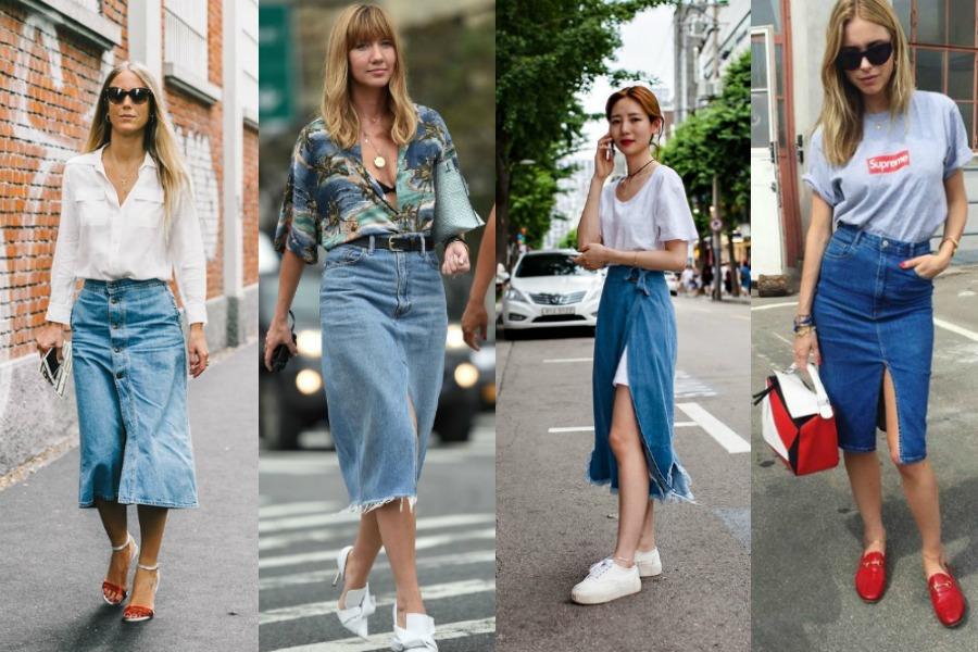 Αν κάπου στην ντουλάπα σου έχεις μια midi τζιν φούστα με σκίσιμο ή κουμπιά 17c39cba510