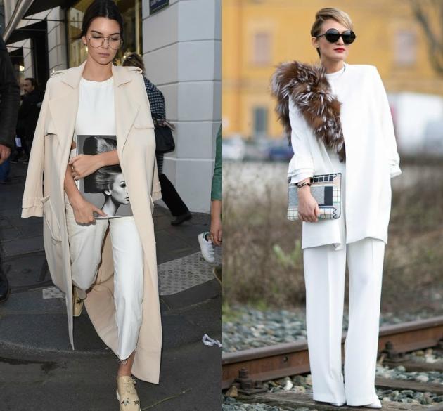4e527af69a26 Βλέπεις ότι λευκό είναι ιδανικό για chic looks. Αν έχεις μια ολόσωμη φόρμα  από σταθερό ύφασμα (ξέρεις αυτή που φορούσες το καλοκαίρι) συνδύασέ την με  ένα ...