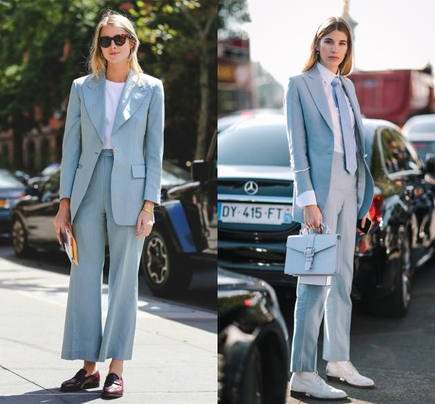 Ένα ριγέ κοστούμι είναι ο εύκολος τρόπος για να δείχνεις πιο ψηλή και  αδύνατη. Για urban style φόρεσέ το με t-shirt 111ed23454f