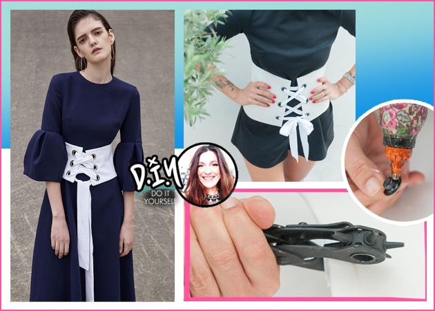 DIY: Βήμα-βήμα πως να φτιάξεις μόνη σου μια corset belt | tlife.gr