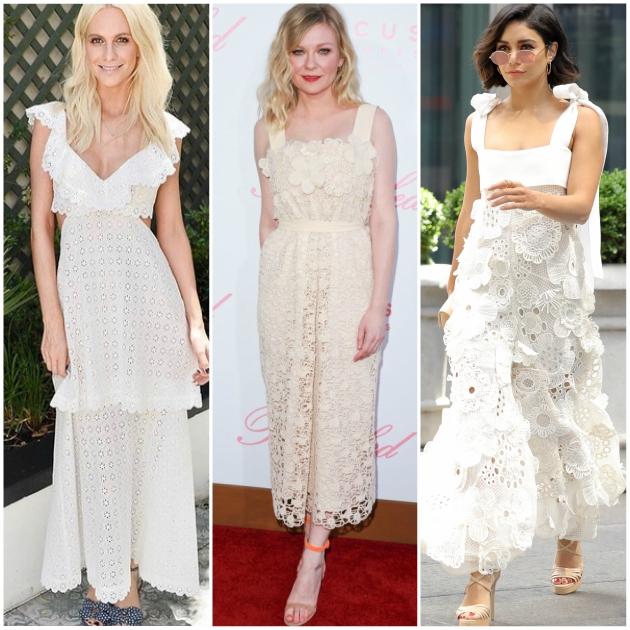 Οι stars επιλέγουν λευκό δαντελένιο φόρεμα