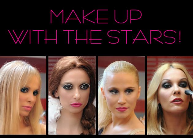 Ν.Μπουλέ, Ν. Καλογρίδη, Μ. Μαγγίρα: μπήκαμε backstage και είδαμε step by step το μακιγιάζ τους!