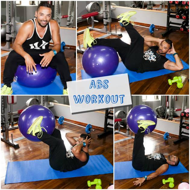1 | Κοιλιακοί με μπάλα. Ασκήσεις για επίπεδη κοιλιά από την άνεση του σπιτιού σου