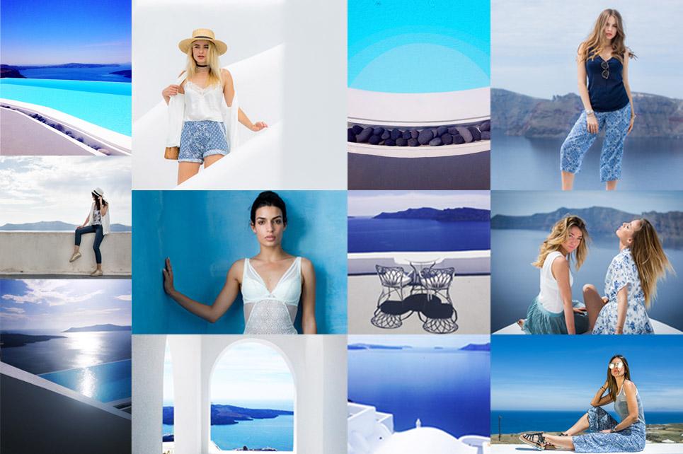 #IntimissimiLovesSantorini σημαίνει κορίτσια, μόδα, ελληνικό μπλε και πολυτέλεια!