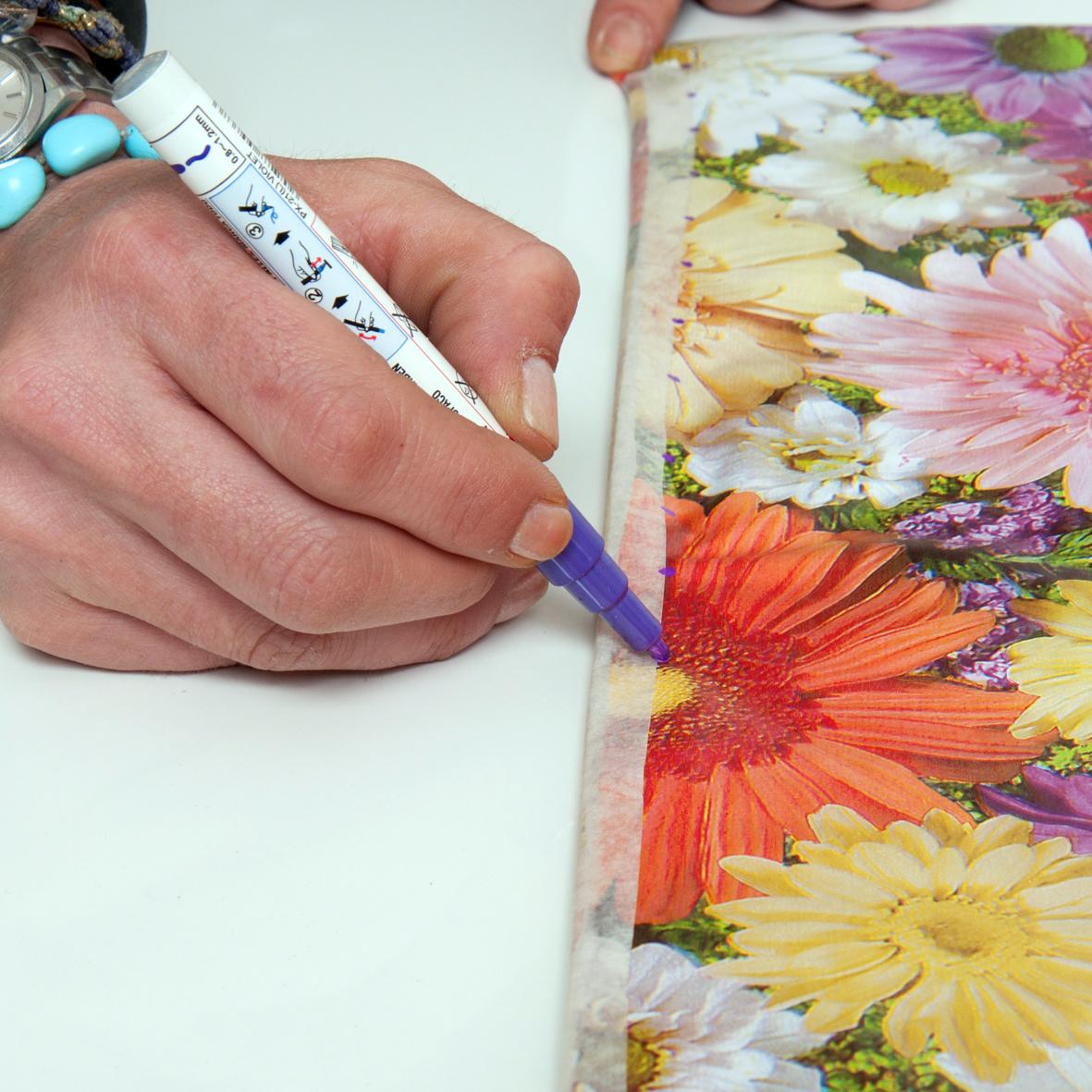 8 | Σημείωσε τα σημεία που θα ράψεις την τσάντα