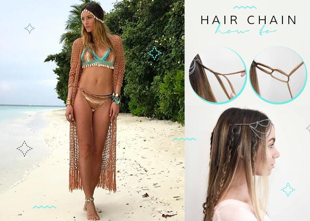 Πώς να κάνεις ένα bohemian χτένισμα με hair chain (γιατί επέστρεψε)! | tlife.gr