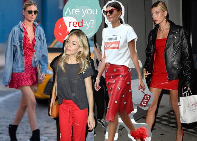 Στιλιστικά μαθήματα από τις σταρ: Πως να φορέσεις το must χρώμα της σεζόν (aka το κόκκινο)