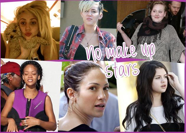 JLO, Rihanna, Lady Gaga και 7 ακόμη διάσημες χωρίς ίχνος μακιγιάζ!