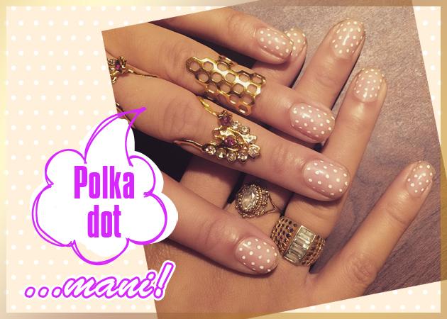 Πώς να κάνεις ένα απλό αλλά stylish polka dot manicure!