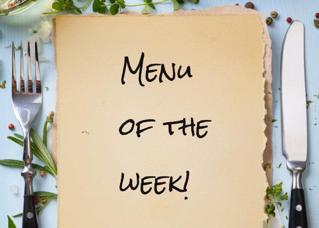 Το μενού της εβδομάδας: Πλούσιες γεύσεις, πολύχρωμα πιάτα!