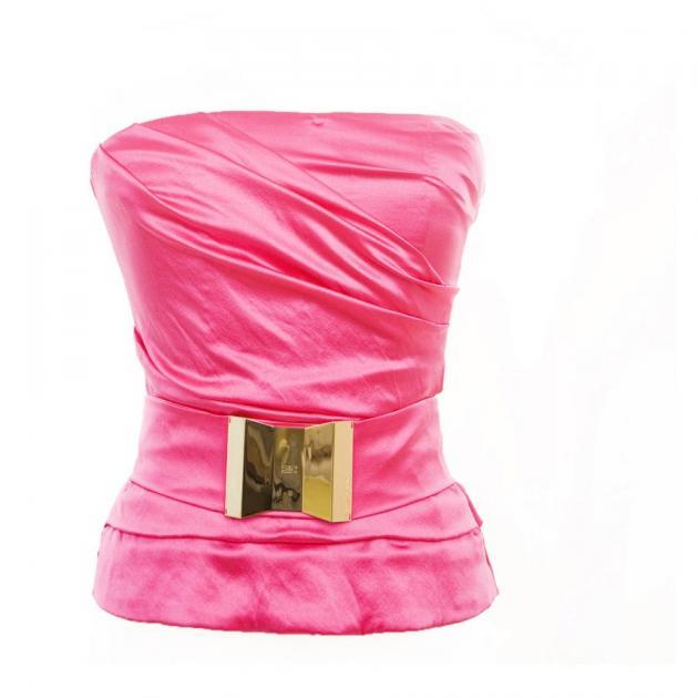 3 | Φούξια strapless elisabetta franchi