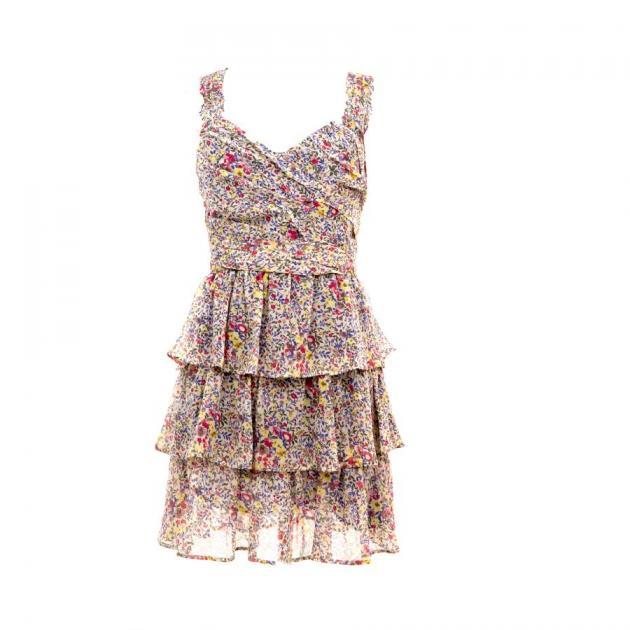 2 | Φλόραλ φόρεμα με βολάν Pinko