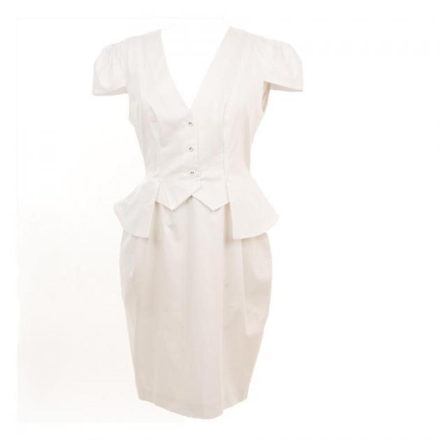 2 | Λευκό μίντι φόρεμα Alexander McQueen