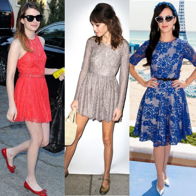 e69a6179d69 Οι celebrities επιλέγουν δαντελένια φορέματα - TLIFE