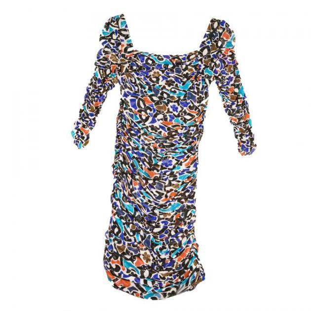 2 | Ντραπέ φλόραλ φόρεμα DVF Diane Von Furstenberg