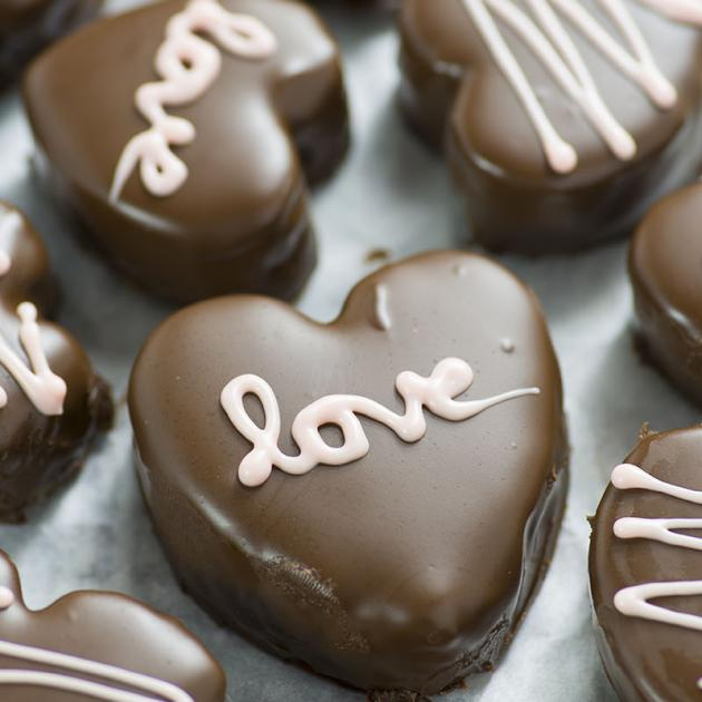 Σοκολατάκια σε σχήμα καρδιάς