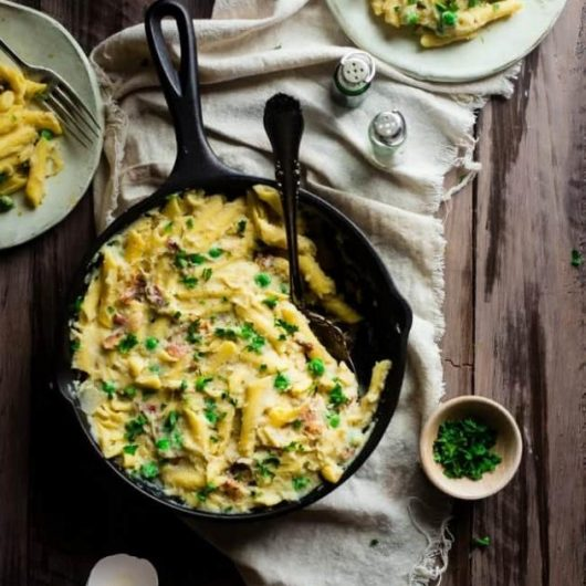 Καρμπονάρα φούρνου με κρέμα κουνουπιδιού   tlife.gr