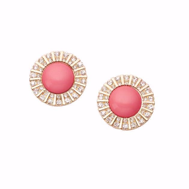 11 | Σκουλαρίκια με σομόν πέτρες Accessorize