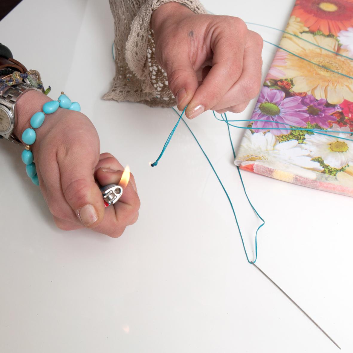 9 | Ετοίμασε το σπάγγο για το ράψιμο