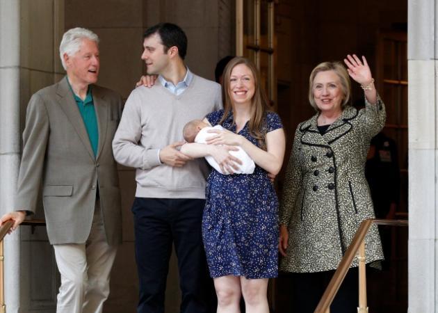 Γεννητούρια για Bill και Hilary Clinton! Η κόρη τους γέννησε αγόρι – Φωτογραφίες