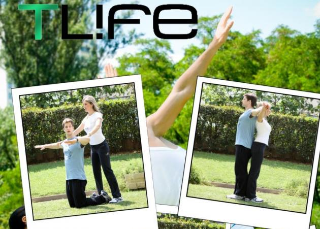 Ασκήσεις για ζευγάρια: Είναι το στήριγμά σου, είσαι το βαράκι του! | tlife.gr
