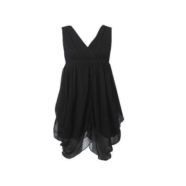 3 | Drape μαύρο φόρεμα Traffic People