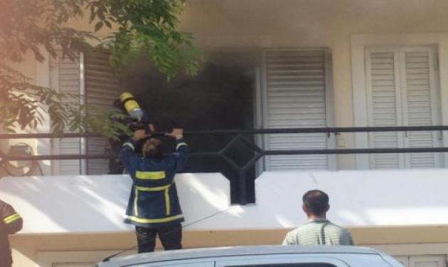 Αχαϊα: Θρίλερ σε φλεγόμενο διαμέρισμα – Δες το βίντεο!