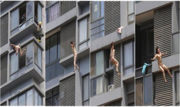 Έπεσε ολόγυμνη από τον 11ο όροφο και έζησε!