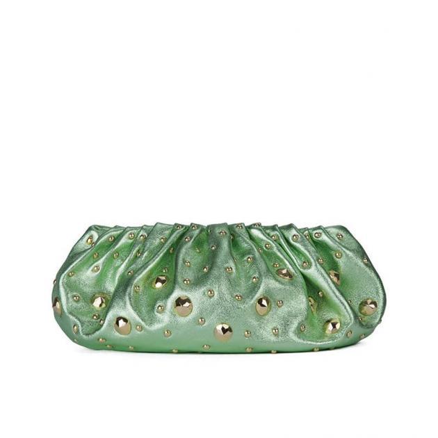 7 | Χρυσομυγί δερμάτινη τσάντα / φάκελος DVF Resort