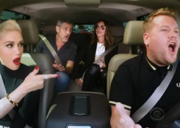Απίστευτο καραόκε με Gwen Stefani, George Clooney και Julia Roberts!
