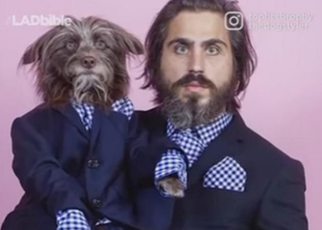 Κι όμως αφεντικό και σκύλος μοιάζουν σαν δυο σταγόνες νερό! [vid]