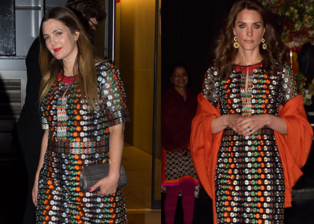 Ποια το φόρεσε καλύτερα; Η Kate Middleton και η Drew Barrymore βγήκαν με το ίδιο φόρεμα! | tlife.gr