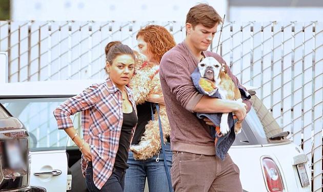 Απαρηγόρητος ο Ashton Kutcher πάει στο γιατρό τον σκύλο του για ευθανασία! Στο πλάι του η Mila Kunis!   tlife.gr
