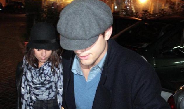Αυτός είναι έρωτας! Mila Kunis και Ashton Kutcher απολαμβάνουν ρομαντικό δείπνο στην Ρώμη! | tlife.gr