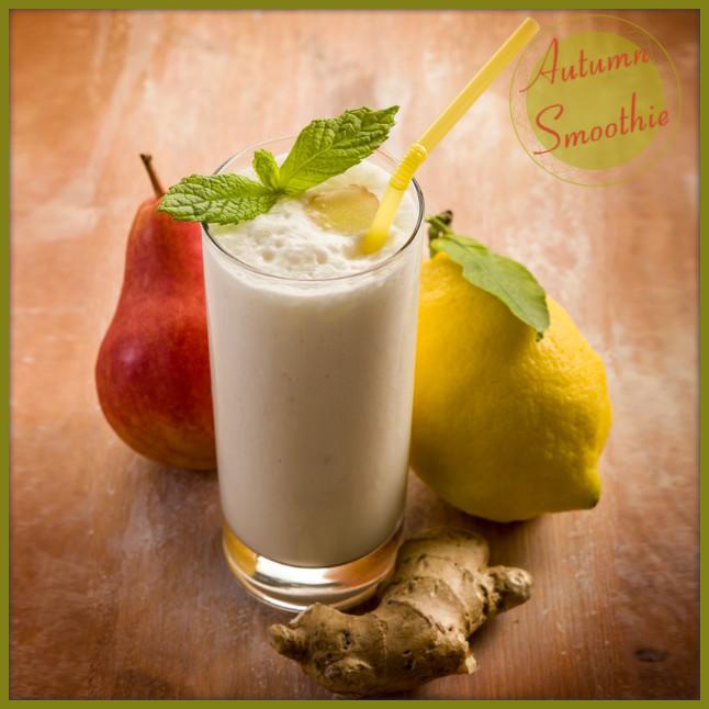 Φθινοπωρινό smoothie αχλάδι