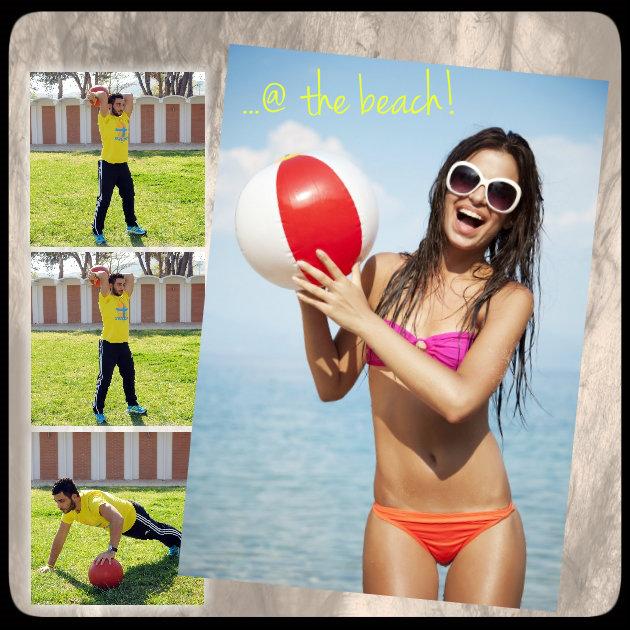 1 | Γυμναστική στην παραλία! Πάρε τη μπάλα και γύμνασε χέρια... και αντίο μπρατσάκια!